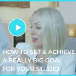 how to set and achieve a really big goal in your studio