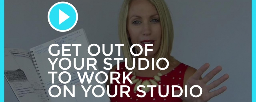 Why to get OUT of your studio to work ON your studio
