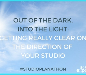 From the dark into the light: Getting really clear on the direction of your studio